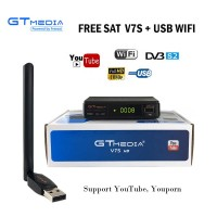 Satellite Receiver HD 1080P + USB WIFI Support YouTube Youporn Cccam Newcam Freesat V7S HD DVB-S2