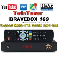 Twin Tuner F10S HD Digital Satellite Receiver Satellite Receiver Support H.265 Skyport IPTV Arab IPTV