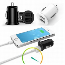 Mini Dual USB Car Charger Adapter for iPhone 7 Plus 6 5S 4S Huawei P10 Samsung Galaxy S8 S7 12V