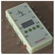 ECG Simulator LED Display ECG Signal Generator 10-200bpm w/ Built-in Rechargeable Battery
