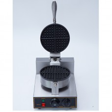 220V Commercial Belgian Waffle Maker Iron Baker Machine Nonstick Round Single Head