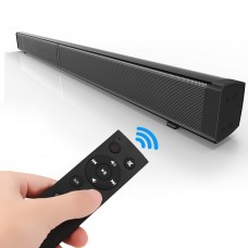 Bluetooth Speaker Echo Soundbar Bluetooth 4.0 2CH TV Speaker System Wall-Mounted + Remote Control