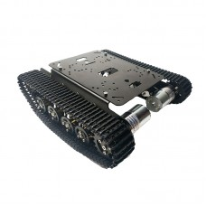 TS100 Metal RC Robot Tank Car Chassis Shock Absorption Car with 12V 330RPM #25Motor For Arduino DIY