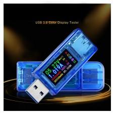 USB 3.0 Voltmeter Ammeter Multimeter Color LCD Voltage Current Capacity Power Bank USB Tester AT34
