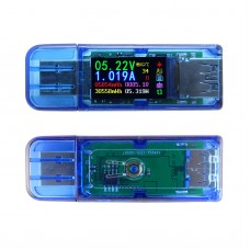 USB 3.0 Voltmeter Ammeter Color LCD Voltage Current Capacity Power Bank Tester AT34 + LD25