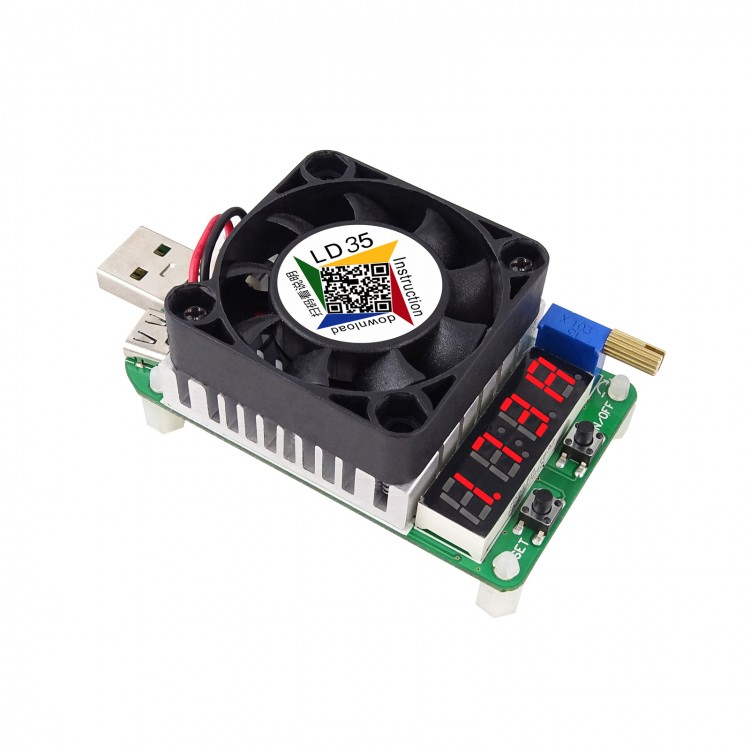 35w 4A usb electronic load adjustable constant current battery capacity tester W