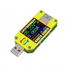 Voltmeter Ammeter USB 3.0 Type-C Voltage Current Meter Android APP UM34C(w/ Bluetooth Communication)