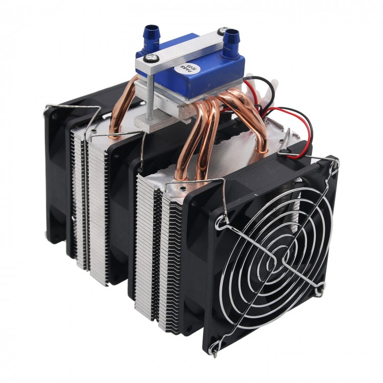 Without Power Supply Peltier Cooler US Plug 120W Semiconductor Refrigeration Thermoelectric Peltier Cooler Water Cooling Device Semiconductor Cooling System