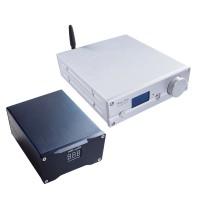 ES9038Q2M DAC Decoder Bluetooth 5.0 DSD512 Headphone Amp Silver + DC Linear Regulated Power Supply