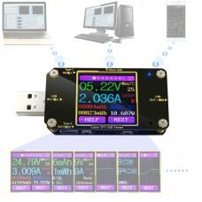 QC2.0/QC3.0 USB Tester Color Type-C Digital Voltmeter Voltage Current Meter Ammeter