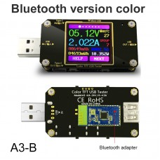 USB Tester Color Bluetooth Type-C Digital Voltmeter Voltage Current Meter Ammeter QC2.0/QC3.0
