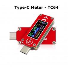 Type-C color LCD USB Voltmeter Ammeter Voltage Current Meter Multimeter Battery PD Charge Power Bank USB Tester
