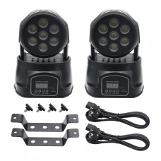 2x Stage Light Lighting 150W DMX Moving Head 4-in-1 RGBW Wash LED 9/14CH LED 7*10W