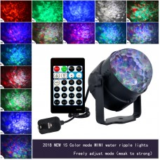 15 Color Disco Ball LED Stage Light 9W Laser Projector Stage Lamp Music Christmas KTV Party