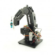 3 Axes Metal Robot Arm Robotic Claw Grab Mechanical Manipulator Toys Android Wireless Control