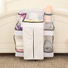 Baby Crib Hanging Bag Baby Bed Storage Pockets Diaper Bag Baby Hanging Storage Bay 63x48cm