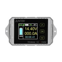 Wireless Volmeter Ammeter Digital Capacity Coulomb Counter Bi-Directional 0-100V 0-30A VAT-1030