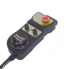 5V MPG Handwheel 6-Axis Manual Pulse Generator with Emergency Stop Switch
