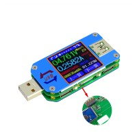 Color LCD Display USB Tester Voltage Current Meter Ammeter with Type-C Micro USB Port Bluetooth