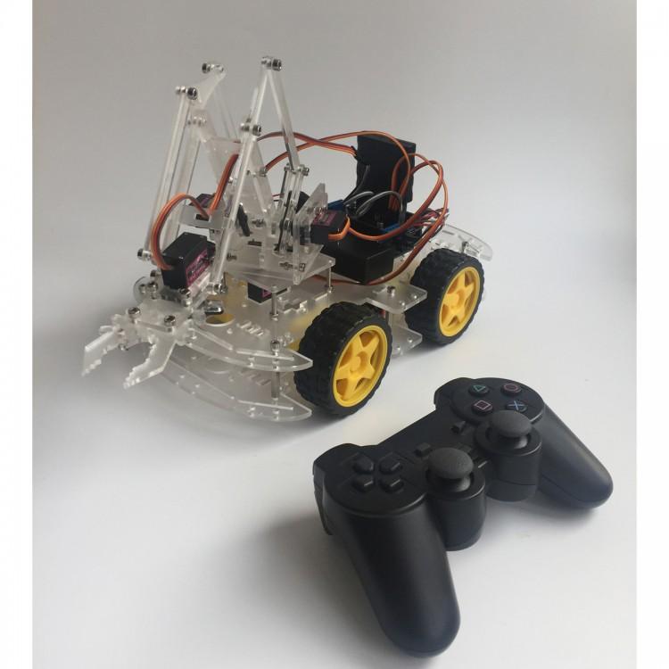 4 Axis MeArm DIY Arduinos Robot Arm Kit Car Wheel Design with PS2
