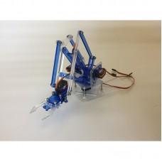 4 DOF Acrylic MeArm Robot Arm DIY Mini Robotic Arm for 9g Servo (Blue Color)