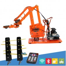 4DOF Robot Arm with Joystick Button Controller 4pcs Servos For Arduino 4 Axis Rotating Kit