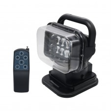 12V 50W LED Searchlight Boat Car 360° Magnetic Remote Control Work Spot Light Camp