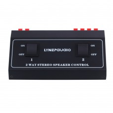 2 Way Stereo Speaker Selector Switch 1 IN 2 Out Stereo Receiver Speaker Set Selector 2 Channel