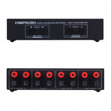 2-Way Amp Amplifier Speaker Selector Switch 2 IN 2 OUT Audio Speaker Selector