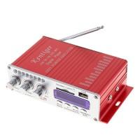 Mini Bluetooth Hi-Fi Stereo Audio Power Amplifier PC/MP3/USB/DVD/SD Card (Red)