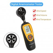 Digital Anemometer Wind Speed Velocity Temperature Measure LCD Screen Outdoor Indoor HT-91