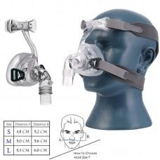 NM2 Nasal Mask for CPAP Masks Interface Sleep & Snore Strap w/ Headgear Headband