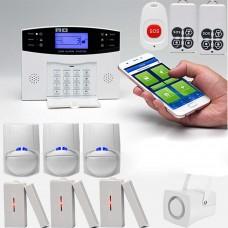 Wireless GSM Alarm System Home Burglar Alarm System SOS Motion Door Window Sensor Security