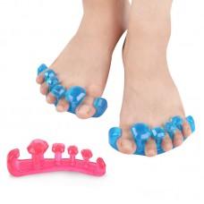 2Pcs 5-Hole Thumb Valgus Protector Toe Separator Divider Bunion Adjuster