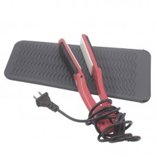 Hair Straightener Heat Proof Mat Storage Bag Silicone Heat Insulation for Salon Curling Iron