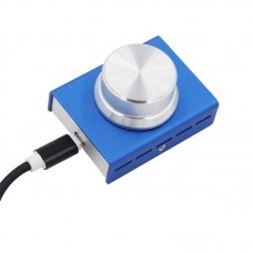 USB Audio Volume Controller for Computer Speaker One Key Mute Function (Blue)