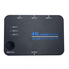 3 Ports HDMI Switcher 3X1 HD 4K 3D Resolution with Remote Control for DVD HDTV