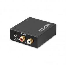 Digital to Analog Audio Converter Adapter Optical Coaxial Toslink Signal to RCA for DVD HDTV