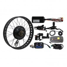 "48V 1500W eBike Conversion Kit Fat Tire Rear Wheel 20"" 24"" 26"" Color Display Hub Dropout Width 190mm"