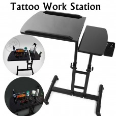 Adjustable Rolling Laptop Desk Table Tracing Drawing Tattoo Work Station Stand