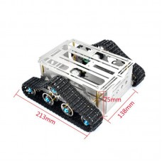 2WD Smart Car Tank Chassis Robotic System Education Platform Aluminium for Arduino