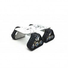 4wd Metal Tank Smart Crawler Robotic Chassis for RC Robot Toy Car 25.5x25x23cm