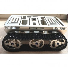 Smart Car Robot Metal Aluminium Alloy Tank Chassis w/ Powerful Motor for DIY