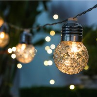 6M 20LEDs String Lights USB Powered Warm White Bulb String Lamp for Party Holidays Christmas