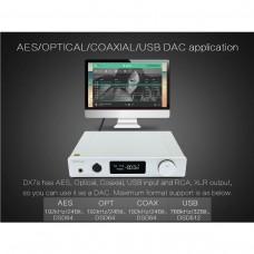DX7s Full Balanced DAC & Headphone Amplifier Amp 2*ES9038Q2M 32Bit/768K DSD512 Silver