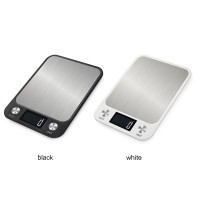 10kg/1g Digital Kitchen Scale Food Scale Stainless Steel Baking Scale LCD Backlight Display