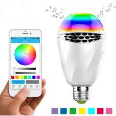 Bluetooth Light Bulb Speaker E27 LED RGB Wireless Music Bulb 7 Light Color WiFi APP Control