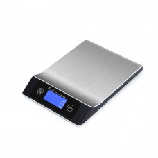 5kg/1g Digital Kitchen Scale Stainless Steel Kitchen Scale Electronic Weight Scale LDC Display