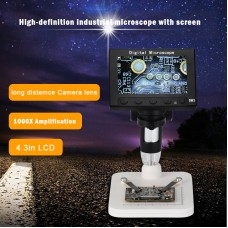 5MP HD 1080P Digital Microscope Fixed Clip 4.3'' LCD Screen for Circuit Board Industry Clock DM3
