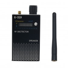 Black RF Signal Detector Anti-Spy Detector GSM Bug Camera GPS Finder 1MHz-8000MHz G319